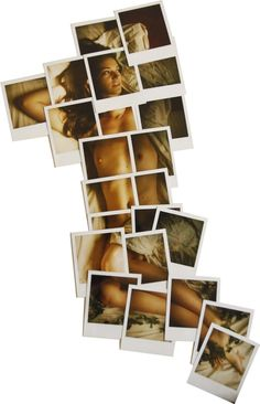 I love this polaroid idea, minus the fact that I wouldn't want boobies on my wall.