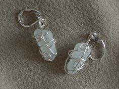 Sea glass earrings - 925 silver plated, nickel free hooks Glass Earrings, Glass Beads, Sea Glass, 925 Silver, Hooks, Silver Plate, Crystals, Free, Color