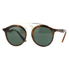 744db57d5e569 Óculos de Sol Ray Ban New Gatsby Round Tartaruga com Lente Verde -  RB425671071