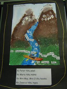 Room 4 students have all been working on learning and presenting their 'mihi' (oral history of where they come from). We made a visual repr. Art School, School Stuff, School Ideas, Waitangi Day, Mrs May, Oral History, Early Childhood, Social Studies, Culture