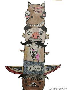 artisan des arts: Grade 5/6 totem poles