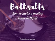 Creating your own sacred bath salt during the Full Moon or any sacred time is an empowering way to nourish your body and offer self care. By mixing together no