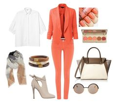 """""""office outfit"""" by vera87 ❤ liked on Polyvore featuring 7 For All Mankind, LE3NO, Monki, Vince Camuto, Jimmy Choo, Marc by Marc Jacobs, Nordstrom, Chico's, Stila and women's clothing"""