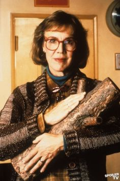 The Log Lady (from Twin Peaks -- filmed outside of Seattle in the country / Snoqualmie Falls. )