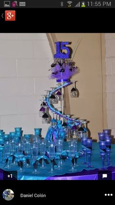 Quinceanera spiral champagne cup holder Quinceanera Centerpieces, Quinceanera Ideas, 25th Wedding Anniversary, Anniversary Ideas, Quince Decorations, Sweet 15, Glass Holders, 15th Birthday, 15 Dresses
