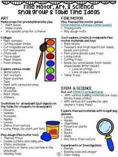 All About Small Group Time - FREE Printable Idea List - Pocket of Preschool