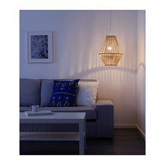 JASSA Pendant lamp shade IKEA Each handmade natural fiber shade is unique.