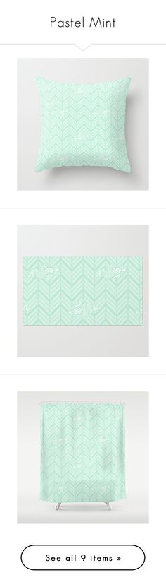 """Pastel Mint"" by beautifulhomes ❤ liked on Polyvore featuring home, home decor, throw pillows, flowered throw pillows, floral home decor, floral accent pillows, chevron throw pillows, floral throw pillows, rugs and floral rug"