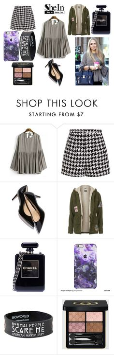 """447- Art Exhibition"" by meydlossantos ❤ liked on Polyvore featuring Emma Cook, Topshop, Chanel, Gucci, women's clothing, women, female, woman, misses and juniors"