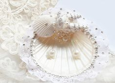 Beach Wedding Ring Bearer Seashell Wedding ring bearers and Beach