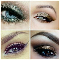 Made with Love: New Year's Eve Inspirations #eyes #eye #occhi #makeup #trucco #golden #silver #glitter #capodanno #newyearseve