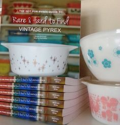 The Hot for Pyrex Guide to Rare and Hard to Find Vintage Pyrex is (finally) available for sale! Visit the Buy the Book page for additional information.A big thank you to the collecting community for their on-going support - this could have never happened without all the people who were kind enough to share their collections and Pyrex stories.- Meg