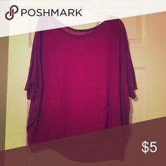 Burgundy Quarter Sleeve Dress Top This top is a pretty dark red color and is super lightweight. There's no lining for underneath, but I loved wearing different Camisoles or bandeaus underneath to make a statement with any outfit. ➡️➡️➡️ I am willing to negotiate on the price, so make me an offer! 😊 10% off bundles of three. ⭐️No Trades⭐️ Tops Blouses