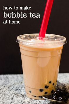 Ever heard of Bubble Tea? Neither had I. After reading this-- How to Make Bubble Tea (Boba) at Home, I created my own healthier version. http://goo.gl/InjpcQ