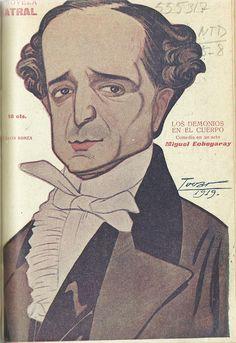 Los demonios en el cuerpo. Comedia en un acto.  Miguel Echegaray (1848-1927). Madrid : La Novela Corta. 1919. http://bvirtual.bibliotecas.csic.es/csic:csicalephbib000555317