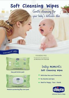 Nurture your baby's soft and delicate skin with Chicco Cleansing Wipes. Call us at 18001026702 or write to us at chiccoindia@artsana.com to know more about the product.
