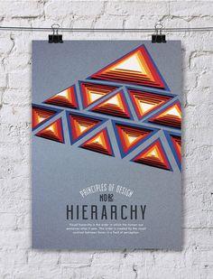 Os 10 princípios do Design em uma série de posteres em 'paper art'   Ideia Quente