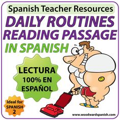 Spanish Reading – Daily Routines worksheets – Lectura y ejercicios – rutina diaria
