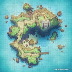 Tagged with fantasy, dnd, dungeons and dragons, battlemaps; Dungeons and Dumps: My Battle Map Collection Pathfinder Maps, Pen & Paper, Rpg Map, Island Map, Dungeon Maps, Dungeons And Dragons Homebrew, Fantasy Map, Fantasy Setting, Environment Concept Art