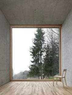 Oskar Leo Kaufmann - House R, Schnepfau 2012 (prev). Via, photos (C) Adolf Bereuter. Architecture Design, Concrete Architecture, Window View, Window Wall, Attic Window, Windows And Doors, Big Windows, Shop Windows, My Dream Home
