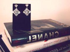 DIY Jewelry DIY Earrings : DIY: Two Button Statement Earrings