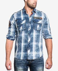 2cfbd0e84c Affliction Men s Strong Instinct Woven Shirt Affliction Clothing