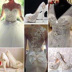 Lovely Wedding Dress #WeddingDress #BridalDress #Heels #WeddingShoes #Fashion