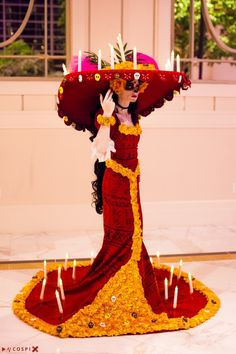 Cosplay Costume La Muerte from The Book of Life. Costume constructed by Lady Ava Cosplay - Disney Cosplay, Cosplay Anime, Cosplay Makeup, Cosplay Outfits, Cosplay Costumes, Cosplay Girls, Halloween Cosplay, Halloween Party, Halloween Costumes