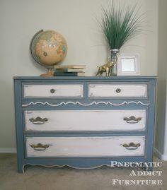 Pneumatic Addict Furniture: DIY Dark Antiquing Wax (And a Dresser Re-do) #PoPP