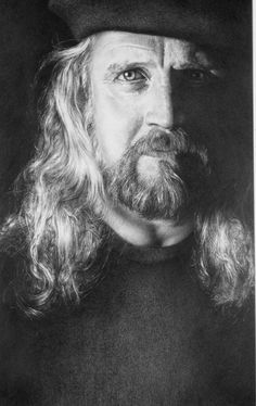 Drawing of Larry Butcher, Graphite on Paper, by Armin Mersmann