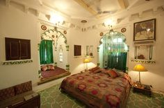 Maharana Suites - Deogarh Mahal - Luxury Heritage Hotel in Rajasthan Suite 5 Heritage Hotel, Mansion Interior, Mansions, Luxury, Bed, Furniture, Home Decor, Travel, Decoration Home