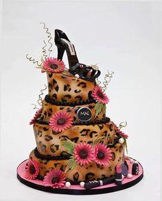 Leopard Skin Shoe Cake - awesome! http://www.trish120.wordpress.com