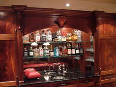 Back Bar Mirror With Shelves Google Search
