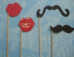 Staches and Mouthfulls of fun Set of 12  Moustaches by EMTsweeetie, $6.00