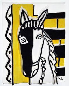 Le Cheval sur Fond Jaune (The Horse on a Yellow Background) by Fernand Léger, glazed painted ceramic, 1953 Henri Matisse, Matisse Kunst, Matisse Art, Gif Sur Yvette, Organic Art, Yellow Art, European Paintings, Original Art For Sale, Joseph