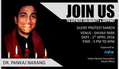 Are you Joining us ? #PankajNarang #JusticeForDrNarang