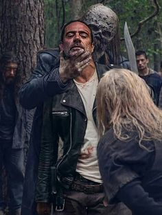 Negan with Alpha and Beta - Walking Dead. Negan with Alpha and Beta The particular Taking walks Expended and Impact on Your Traditions Walking Dead Coral, Walking Dead Season 9, The Walking Death, Amc Walking Dead, Walking Dead Tv Show, Walking Dead Zombies, The Legend Of Zelda, The Walking Dead Wallpapers, Andrew Lincoln Young
