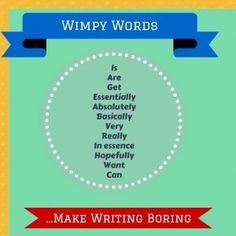 Wimpy Words Make Writing Boring #amwriting