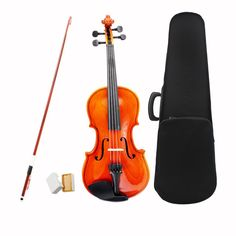 Violin Fiddle Stringed Instrument Musical Toy for Kids Beginners High Quality Basswood Body Steel String Arbor Bow Rosin Violin Case, Violin Bow, Musical Toys For Kids, Kids Toys, Children's Toys, Bow Cases, Electric Violin, Cheap Guitars, Violin Lessons