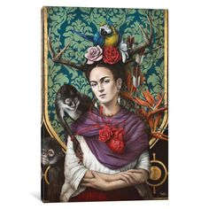 Found it at Wayfair - Hommage a Frida (a Tribute to Frida) Graphic Art on Wrapped Canvas