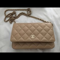 4b8df1f5ed7d09 Chanel WOC lambskin in beige with gold hardware Pre-owned and in great  condition authentic WOC in cream/beige lambskin. This was purchased in  Italy 2 years ...