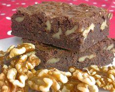 Receta de Brownies de chocolate con nueces