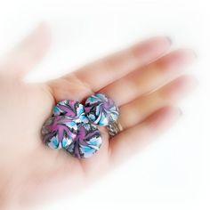 Perle Swirl fatte a mano in Pasta Polimerica  Turchese di archidee