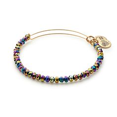 Northern Lights Brilliance Beaded Bangle in Shiny Gold (Alex and Ani)