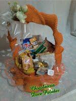 Chocolateria Doce Paladar: Cesta cházinho da tarde - R$ 73,00 - 33 itens