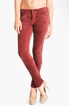 Citizens of Humanity Skinny Velvet Pants available at #Nordstrom  would love to see if i could pull these off...LOVE them.