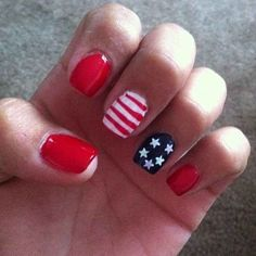 ".:* L - ""Preppy Perfection"" - 30 Patriotic Nail Art Ideas For The Fourth Of July from buzzfeed"