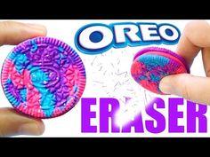 DIY GALAXY OREO ERASER | DIY School Supplies - YouTube