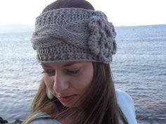Knit headband headwrap ear warmer Women by knittingparadise