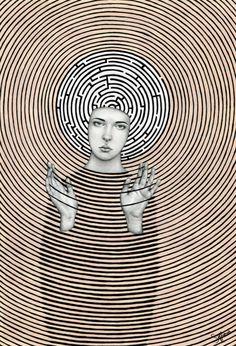 myampgoesto11: Sofia Bonati: Eudoxia (2016) Pencil, marker and...